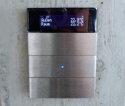 3-fach KNX Tastsensor, Raumtemperaturregler