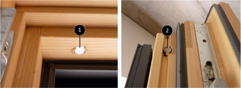 Fensterkontakte in Rahmen und Flügel