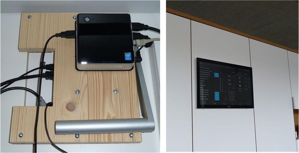 Automatisierungsserver: Intel NUC und Touchscreen