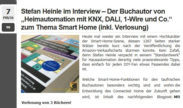 Heimautomations-Kompendium auf meintechblog.de